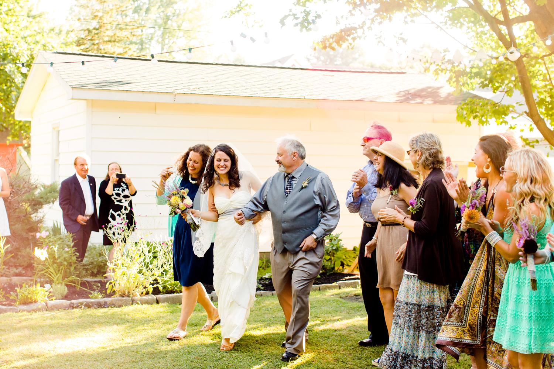 backyard wedding ceremony | Oswego NY