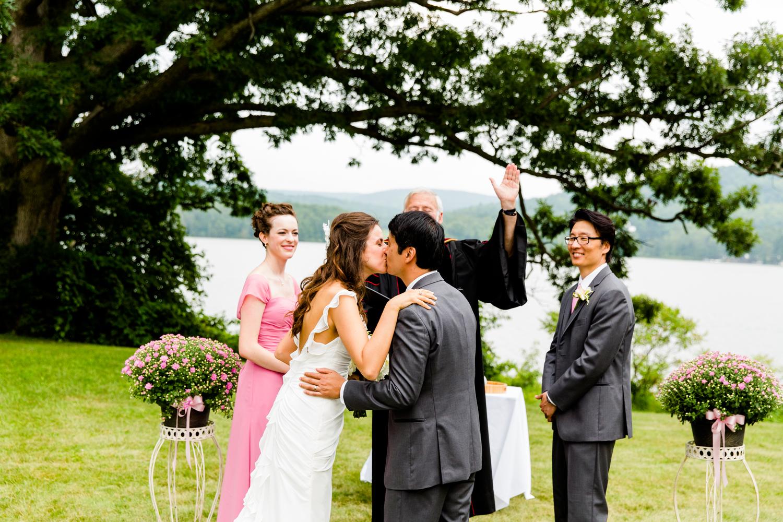 Finger Lakes wedding ceremony