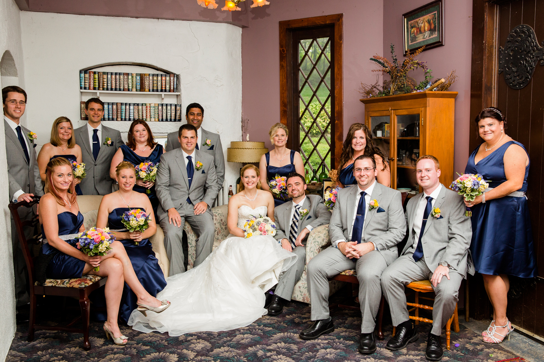 Beardslee Castle indoors bridal party