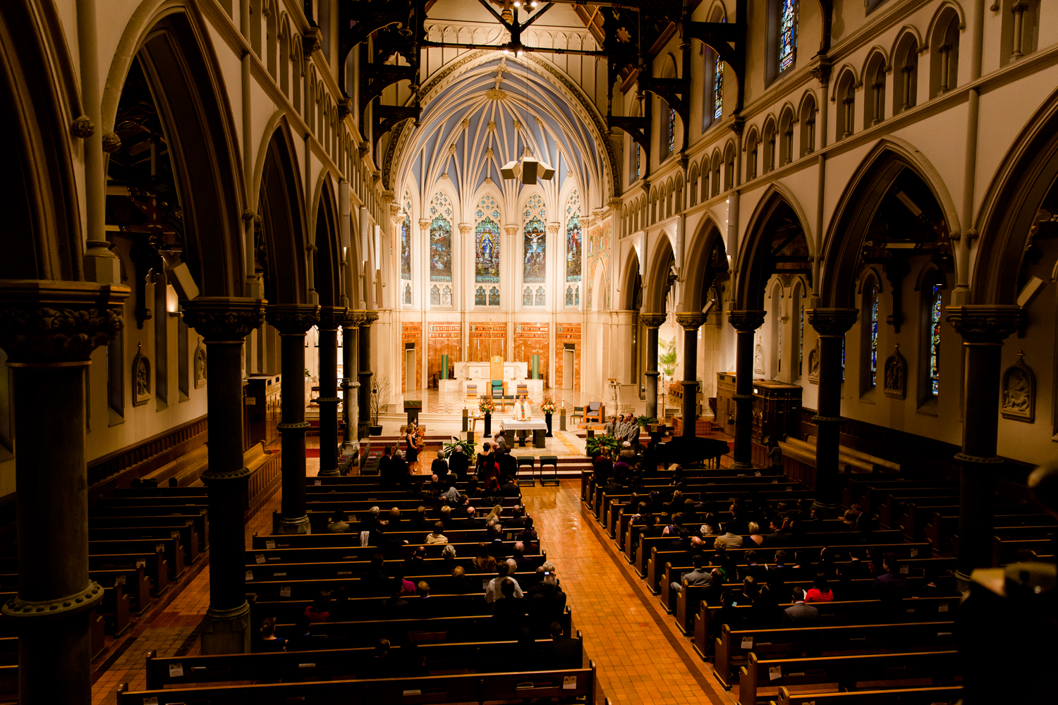 Cathedral of the Immaculate Conception wedding