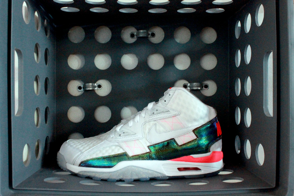 Nike Air Trainer SC High PRM Color:   White/Hyper Punch-White   Style Code:   638074-103   Price:   $130