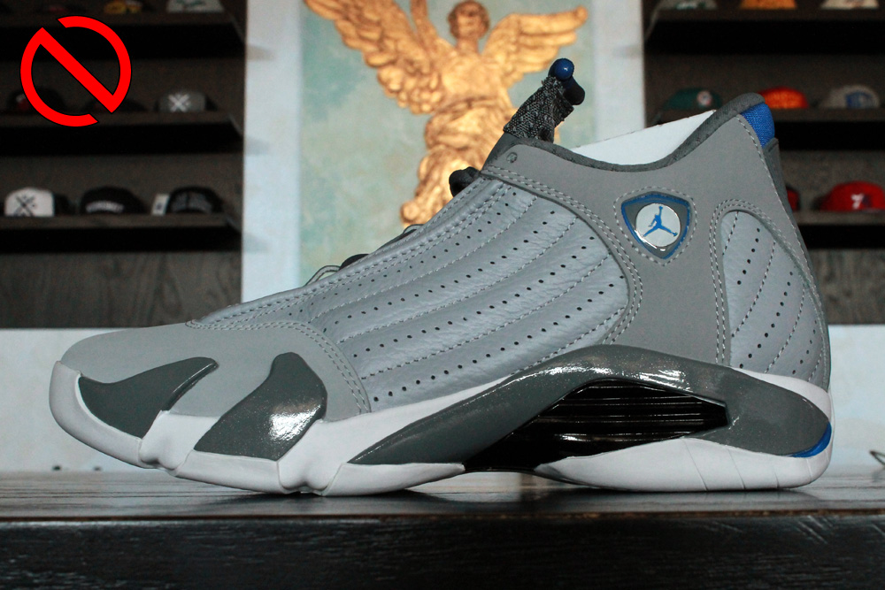 "Air Jordan 14 ""Sport Blue""   Color:   Wolf Grey/White-Sport Blue   Style Code:   487471-004   Release Date:   08/02/14   Price:   $170"