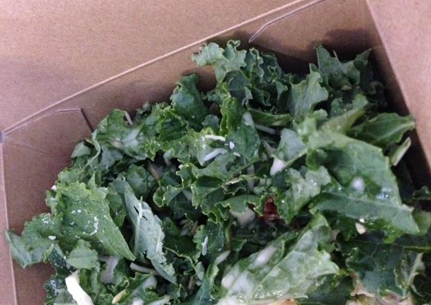 Kale salad courtesy of Blue Door Farmstand on Armitage