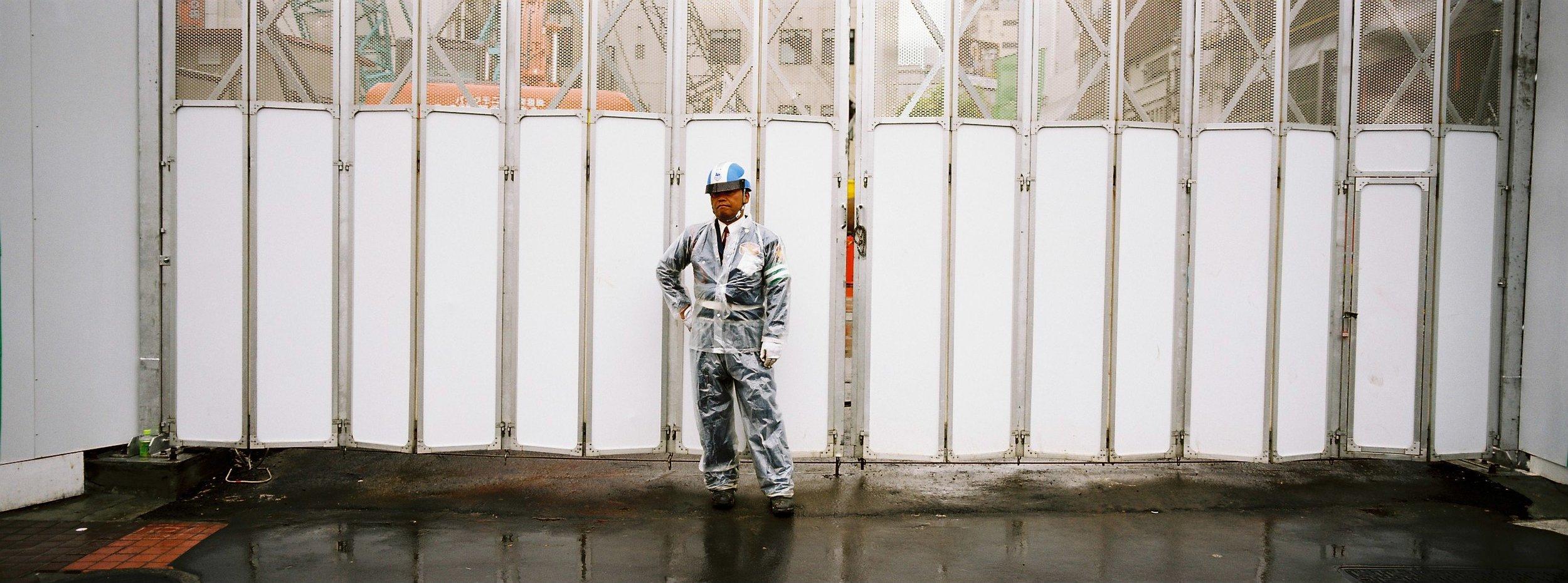 Security guard portrait