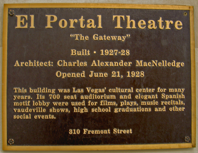 "El Portal Theatre - ""The Gateway"""