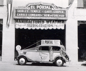 El Portal Refrigeration - advertising cool-air and the original marquee