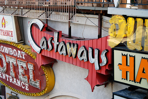 Las Vegas Hotel signs from Dr. Lonnie's collection