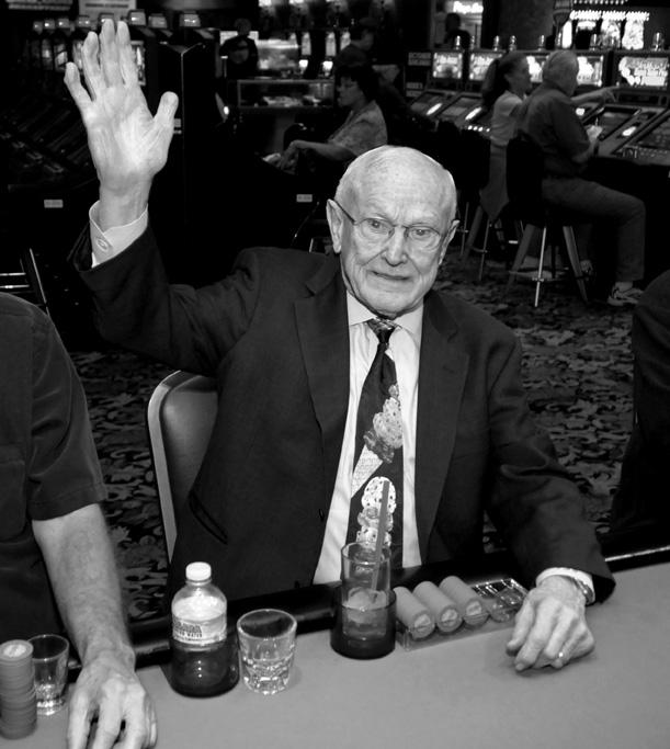 Jackie Gaughan gambling at his beloved El Cortez