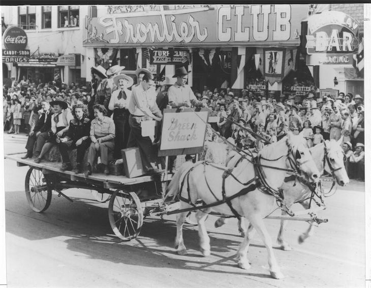 The Green Shack in a Helldorado parade