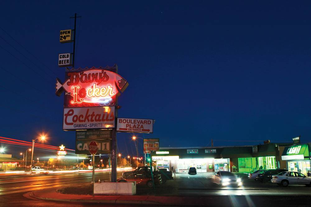 Which would you prefer, a restored Davy's Locker neon fish or a generic strip mall sign?   Photo Courttesy of Las Vegas Weekly and Sam Morris