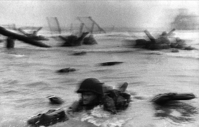 D-Day as captured by photographer Robert Capa  Photo courtesy of Sklyighters.org