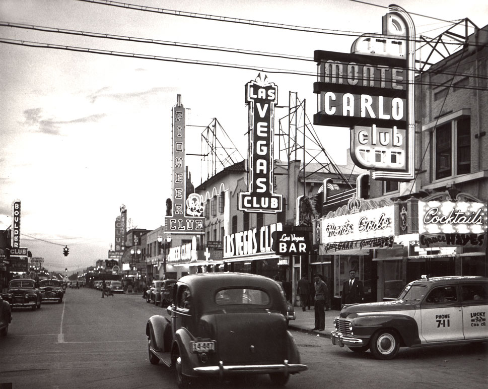 Fremont Street in the mid-1940s