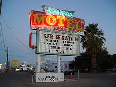 Cimarron Motel sign at dusk.jpg