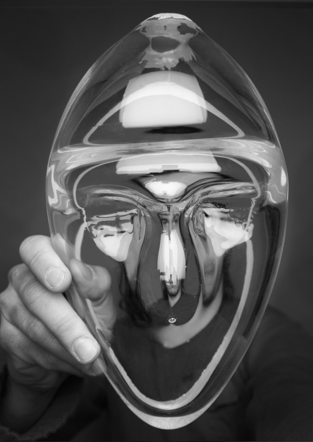 Mask  Hot Sculpted and Cold-worked Glass. 2013.