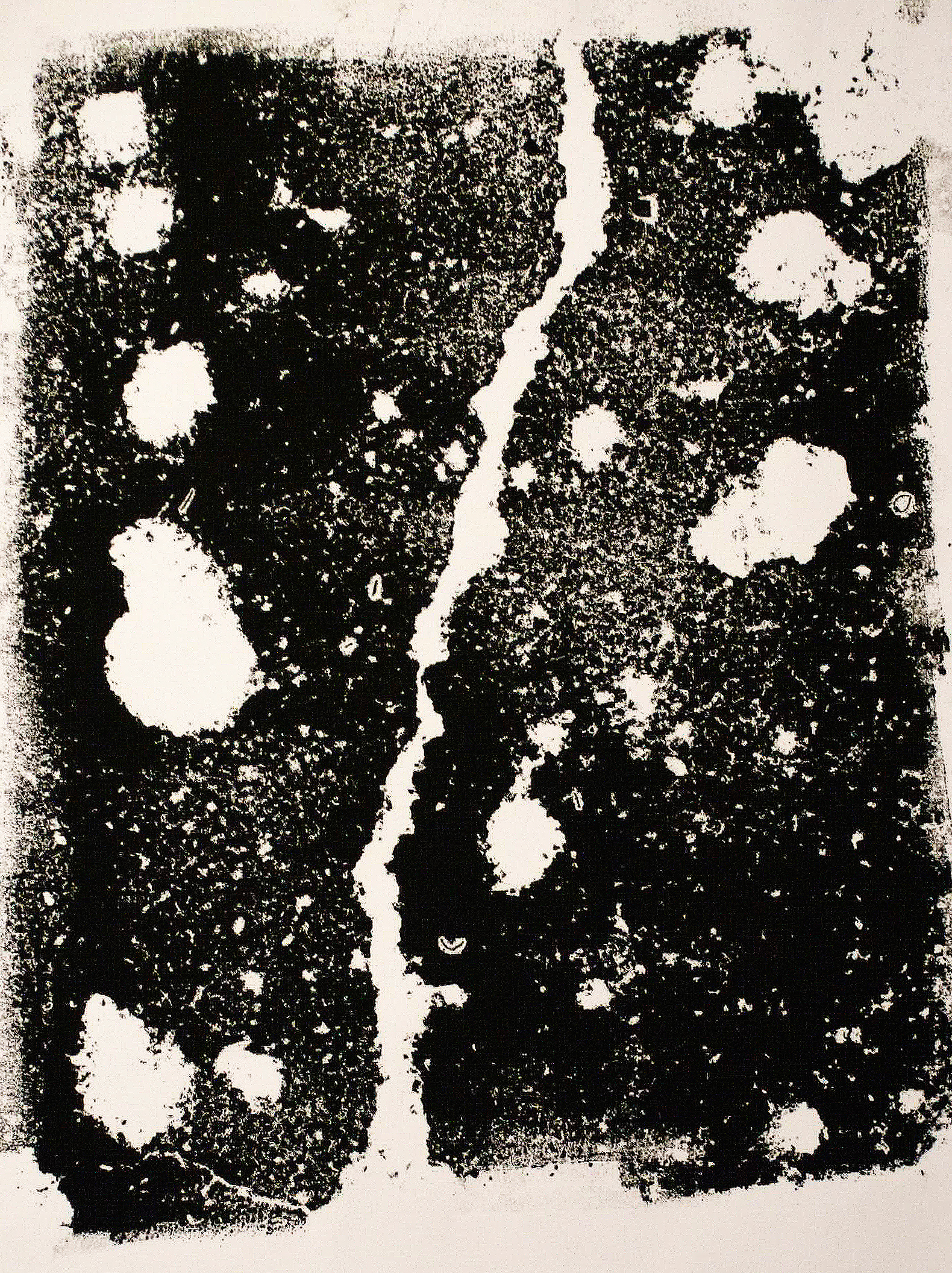 '50 years cracking' Monoprint. 2010