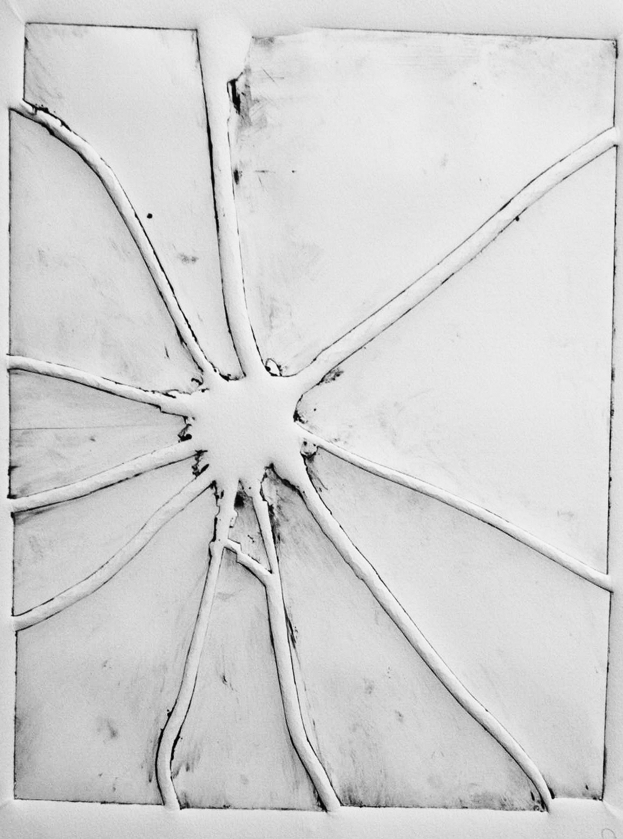 'Mach 6' Embossed Crack on Paper. 2010