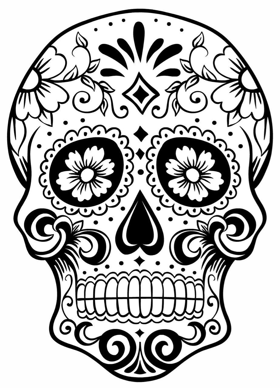 The (Ghost) Note - Denton's Day of The Dead Festival sugar skull.jpg