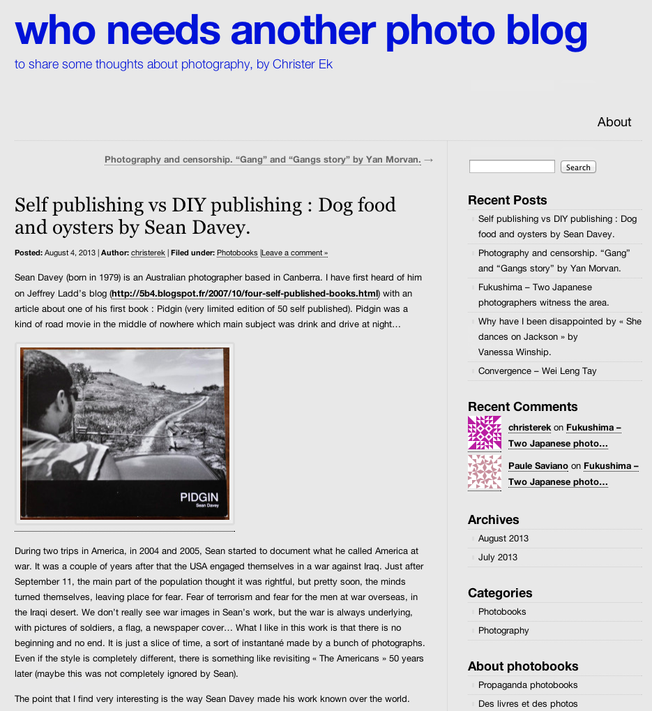 Screen grab from  Who Needs Another Blog  by Christer Ek.