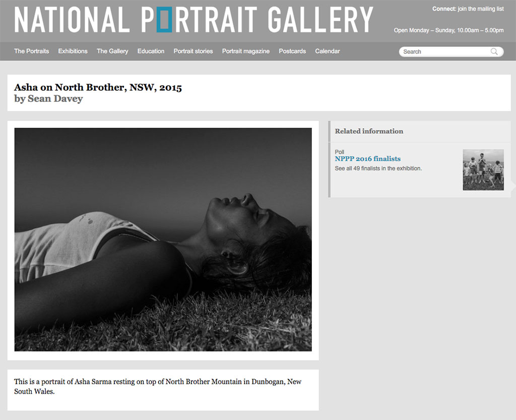 Click on the image above to see the 49 finalists in the 2016 National Photographic Portrait Prize.