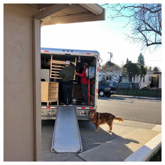 Moving day! ✨We are moving just 8 minutes away from our cute little home we've lived in for, a month shy of, 9 years but it feels like a great big adventure 🥰 Coop hasn't let me out of his sight since the first boxes were being packed 😆 like we could leave this big ol' ball of fur... but seriously, if we could somehow just leave all the fur 🤔 December 29, 2018