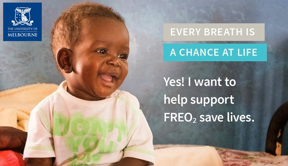 Join the campaign! - Donate to FREO2 during our December campaign through The University of Melbourne.