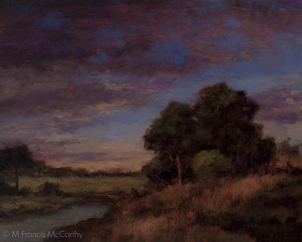"""""""Twilight Hillside """" (8x10) by M Francis McCarthy"""