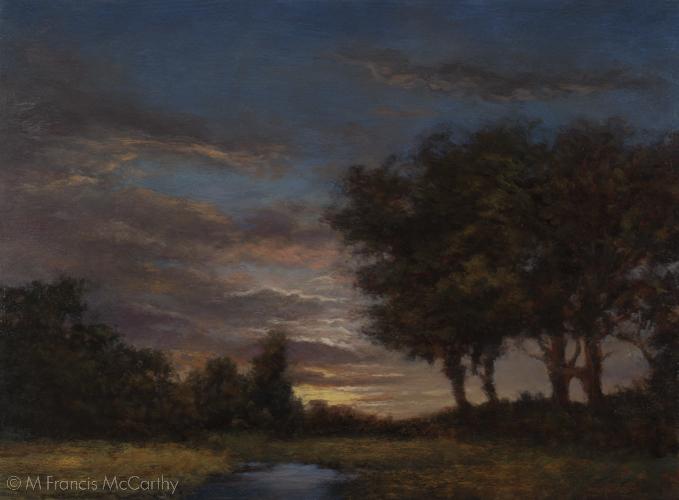 """Twilights Ember"" (12x16) by M Francis McCarthy"