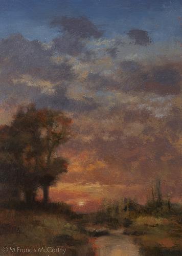"""Summer Creek"" Size 5x7 by M Francis McCarthy"