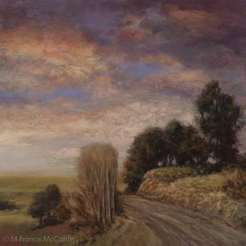 """Road Above the Valley"" Size 11x11 by M Francis McCarthy"