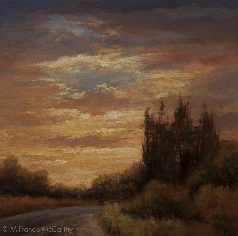 """Summer Dusk"" Size 8x8 inches by M Francis McCarthy"