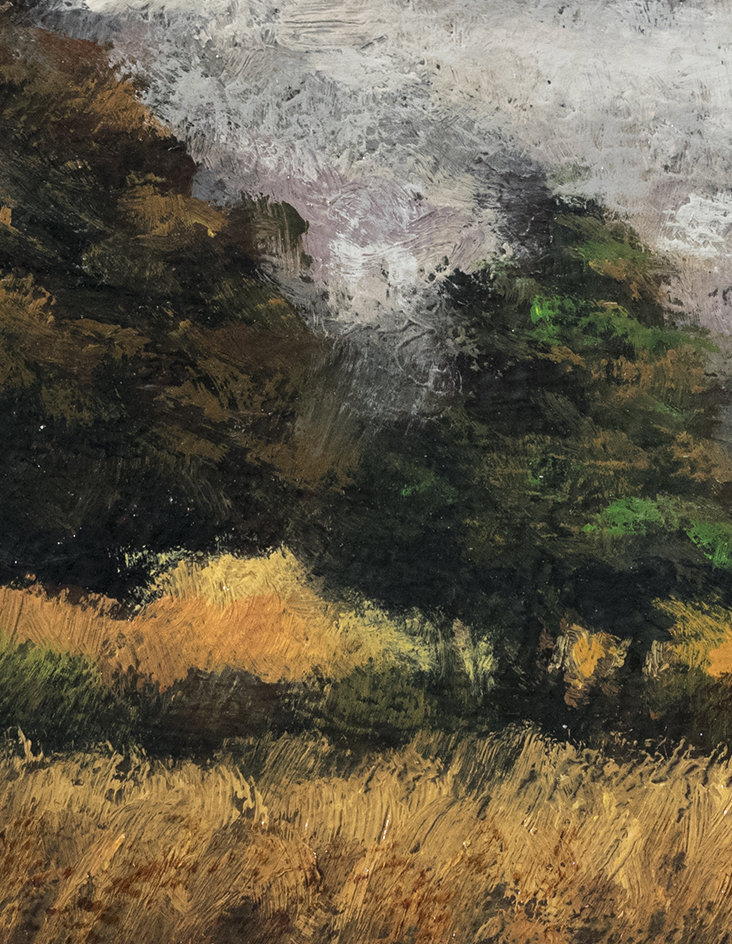 In the Meadow 3½x5 by M Francis McCarthy (Detail)