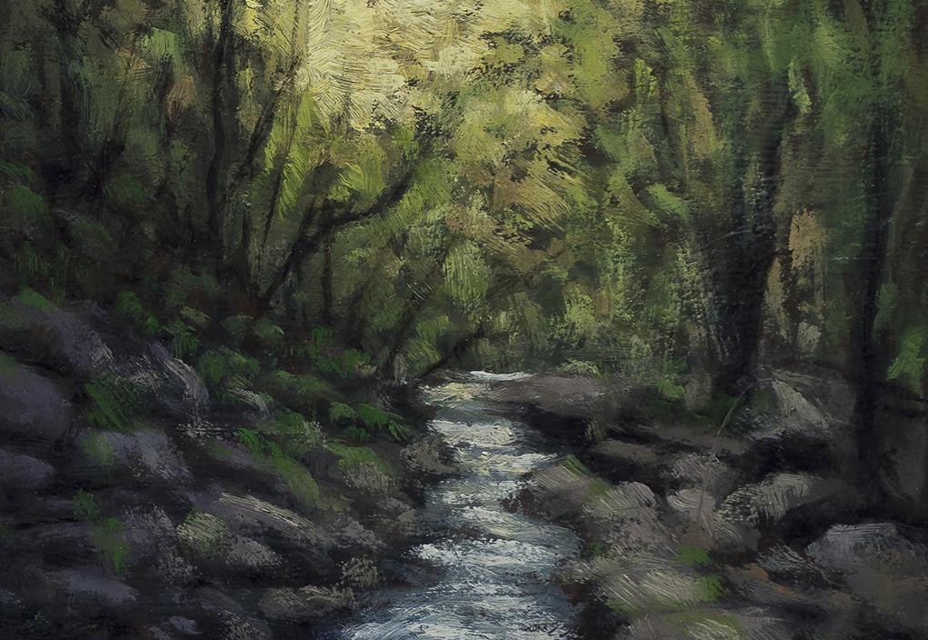 River Light 5x7 by M Francis McCarthy (Detail)