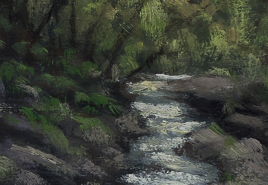 River Light 5x7 by M Francis McCarthy (Detail 2)