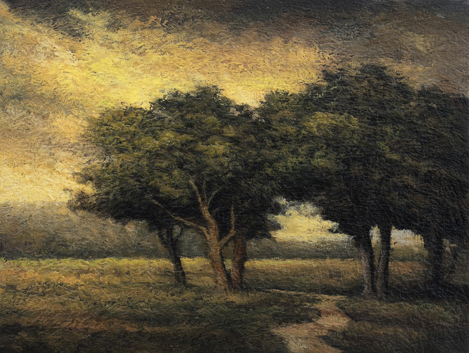Meadow Path 6x8 by M Francis McCarthy, Oil on Wood Panel