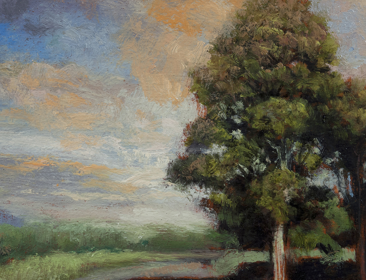 Late Afternoon Road 5x7 by M Francis McCarthy (Detail)