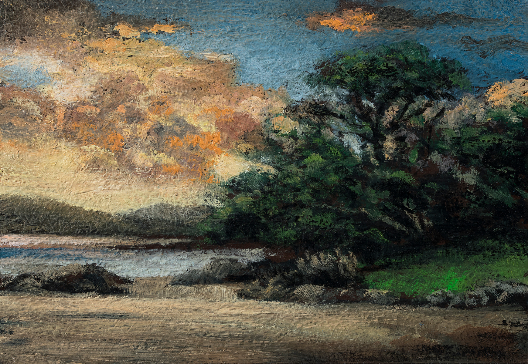 Tides Out 3½x5by M Francis McCarthy, Oil on Wood Panel