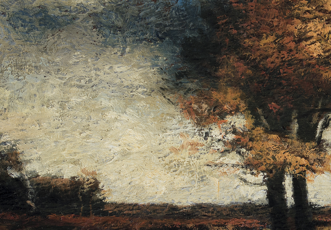 Study after J. Francis Murphy - A Stormy Day by M Francis McCarthy (Detail)