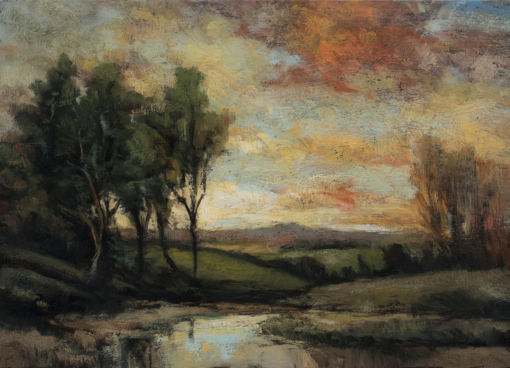 Study after Charles Appel Marsh Landscape by M Francis McCarthy - 5x7 Oil on Wood Panel