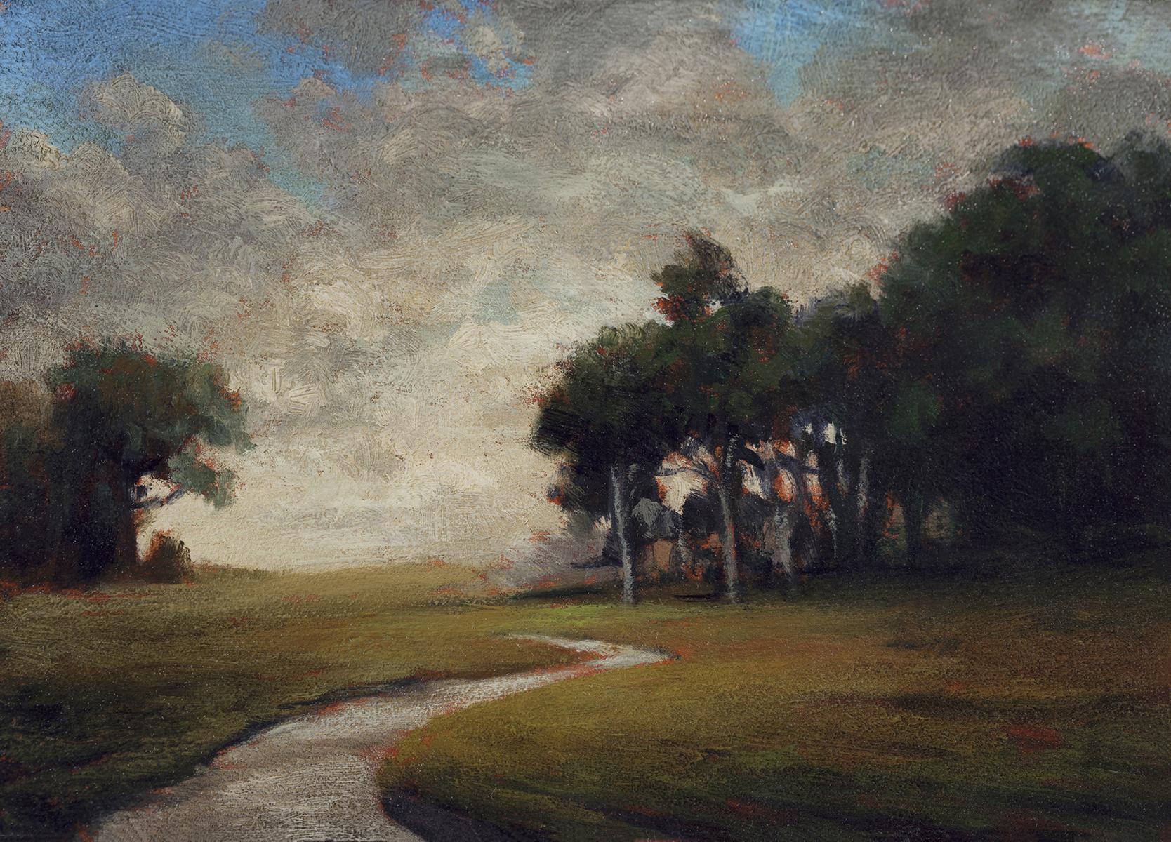Hillside Stream by M Francis McCarthy - 5x7 Oil on Wood Panel