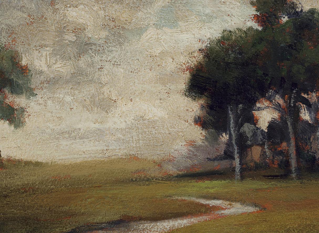 Hillside Stream by M Francis McCarthy - 5x7 (Detail)