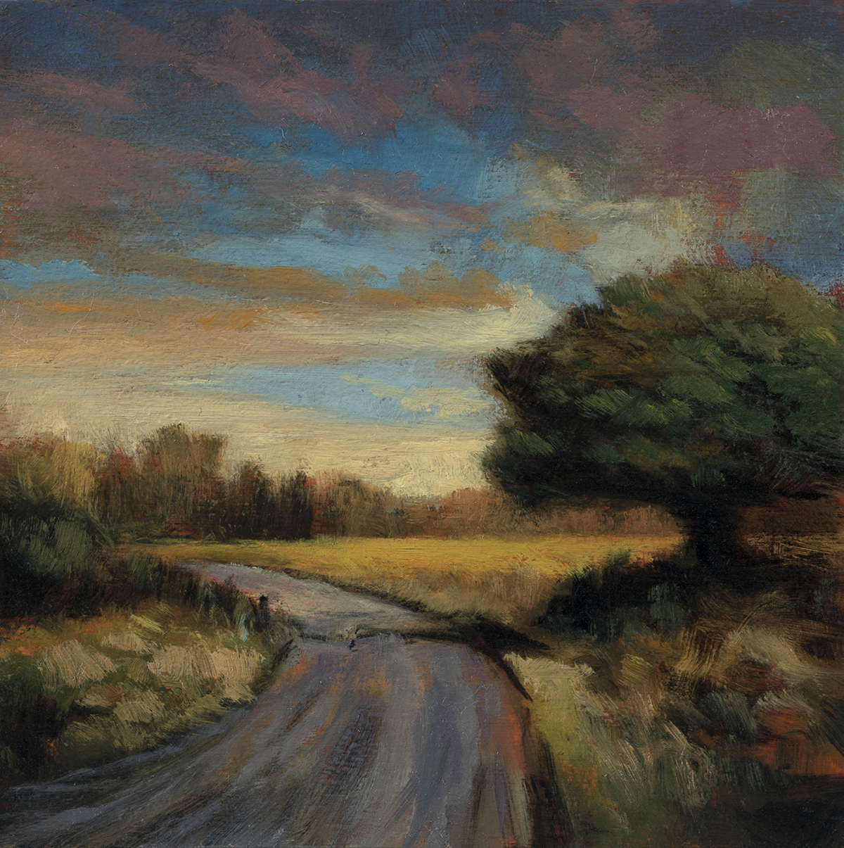 Autumn Passage by M Francis McCarthy - 5x5 Oil on Wood Panel