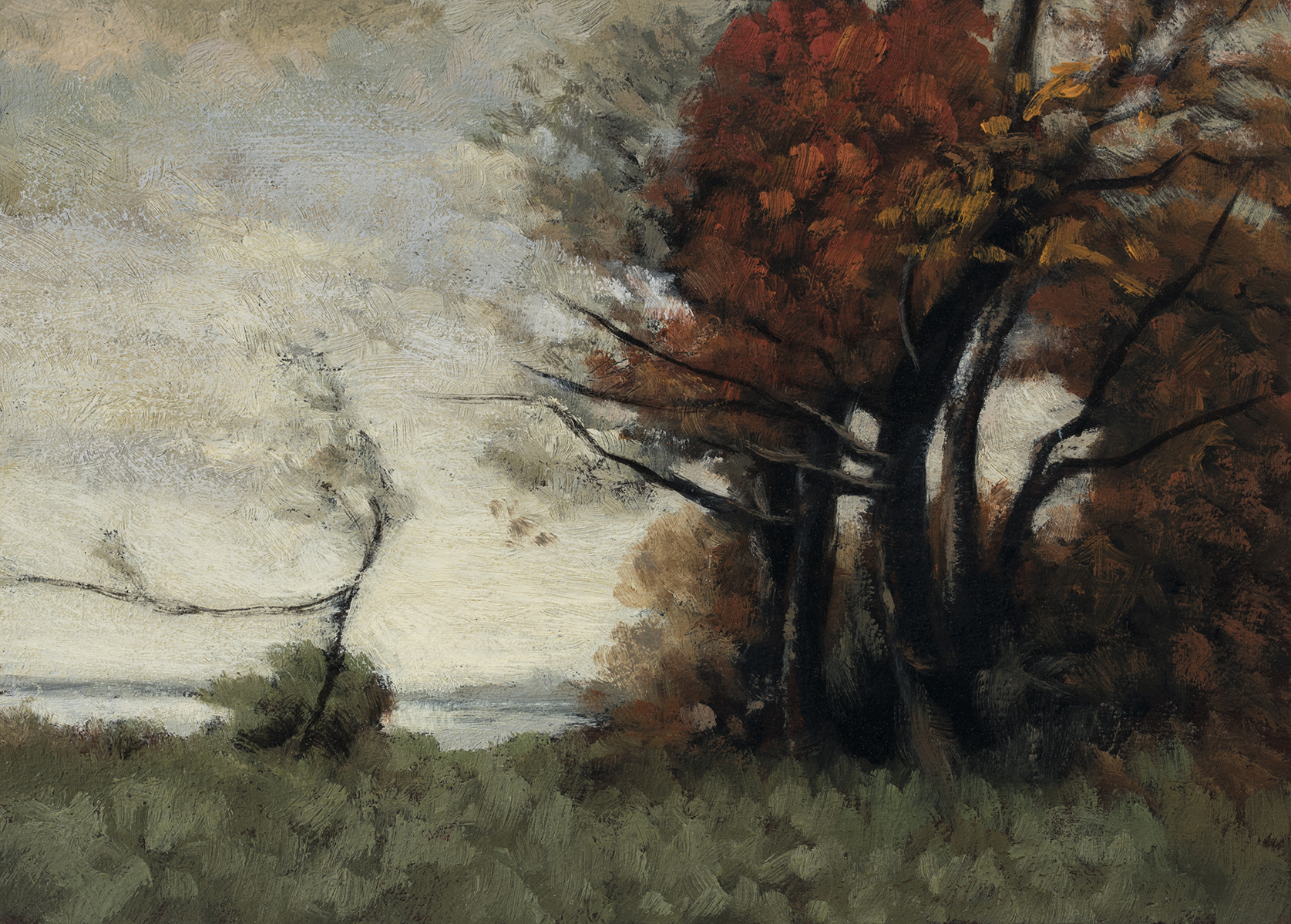 Study after Paul Desire Trouillebert 'Autumn' by M Francis McCarthy - 5x7 Oil on Wood Panel