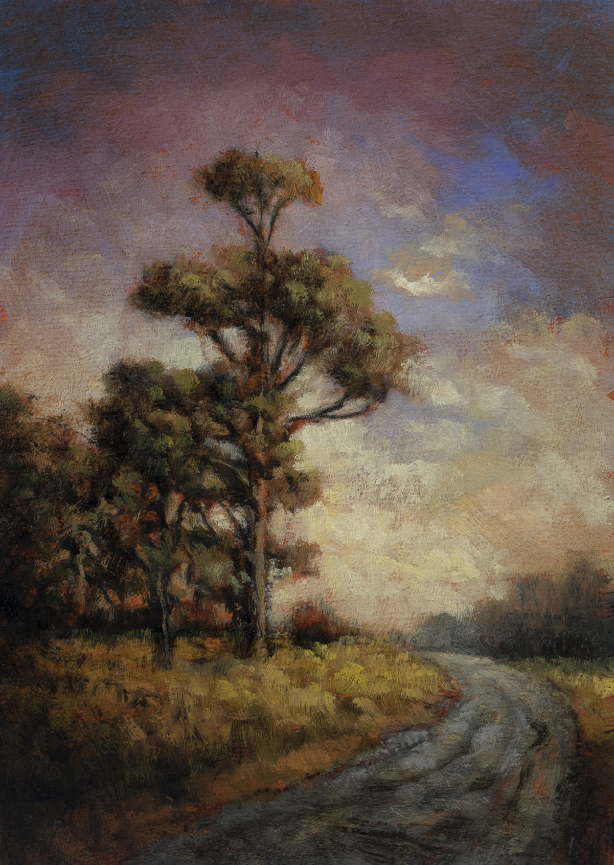 Into the Gloaming by M Francis McCarthy - 5x7 Oil on Wood Panel