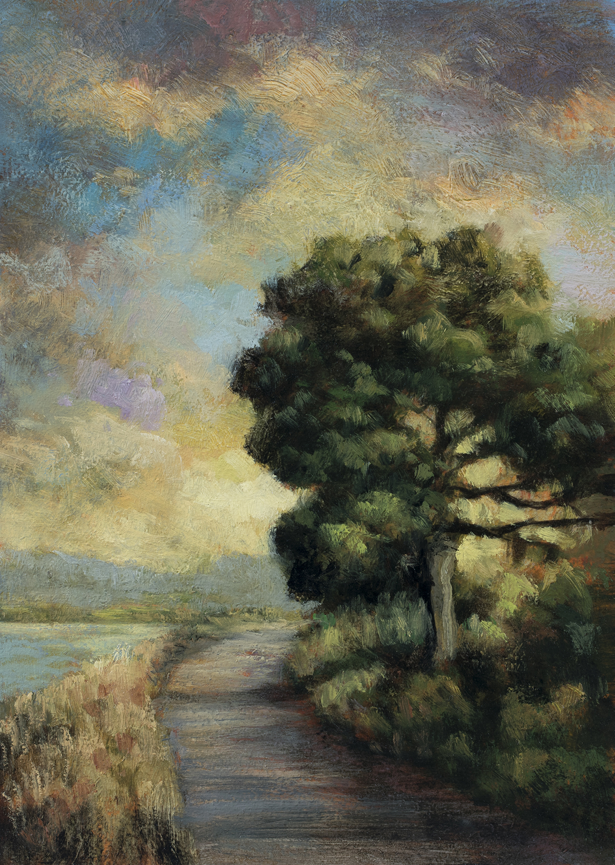Lake Path by M Francis McCarthy - 5x7 Oil on Wood Panel