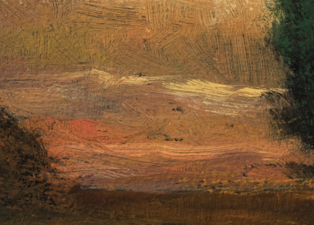 Study after John Enneking 'Tranquility at Sunset' by M Francis McCarthy - 5x7 (Detail 2)