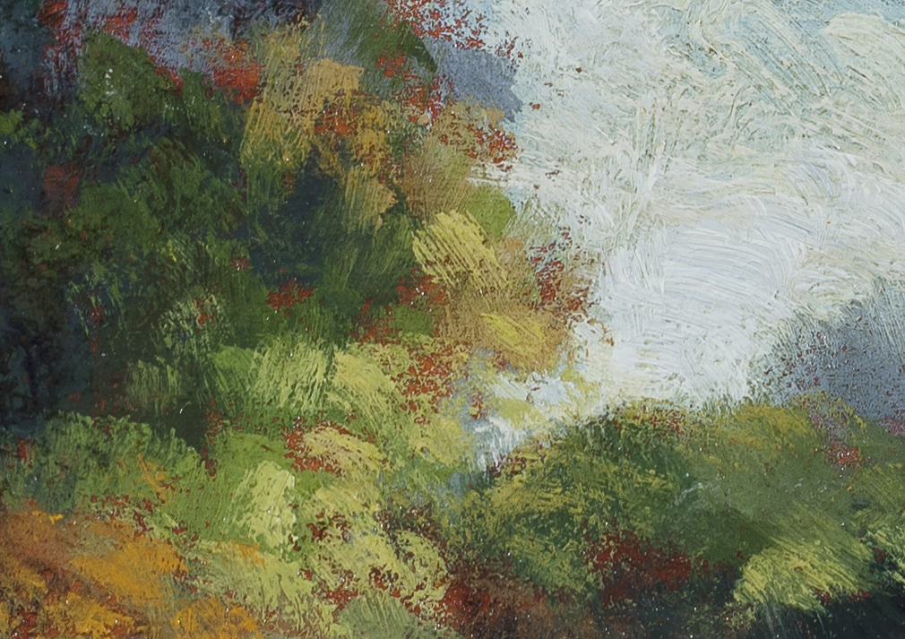 Near the Village by M Francis McCarthy - 5x7 (Detail)