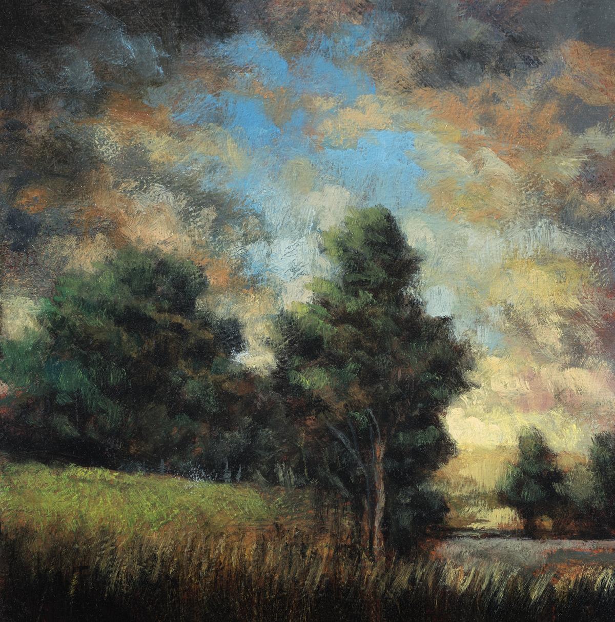 Morning Hillsideby M Francis McCarthy - 5x7 Oil on Wood Panel