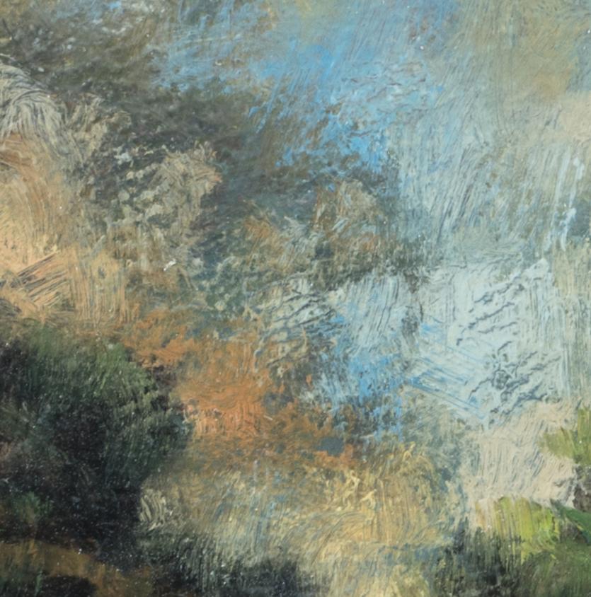 Morning Hillside by M Francis McCarthy - 5x7 (Detail)