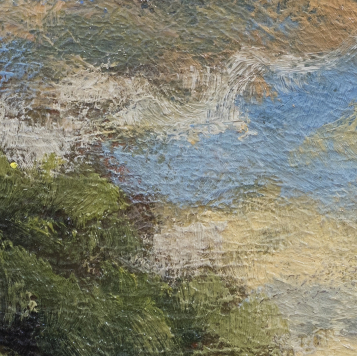 October by M Francis McCarthy - 5x5 Oil on Wood Panel (Detail 2)