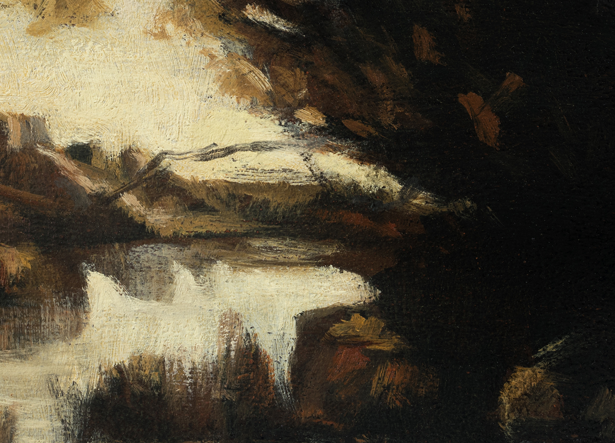 Study after: Camille Corot - Memory of Lake Nemi by M Francis McCarthy (Detail)